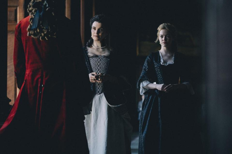 "Rachel Weisz and Emma Stone in""The Favourite."""